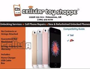 iPhone SE 16GB Black Bell/Virgin (90 Day Warranty) - LIKE NEW