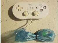 Official Nintendo Wii Remote White Classic Controller Pro Rvl-005 Gamepad classic nes