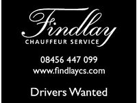 Vale licensed drivers required, for busy chauffeur company. Vehicle provided, immediate start.