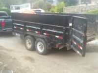 Veteran with truck and 14' dump trailer for hire.