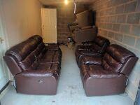 Mahogany Electric Sofa Set