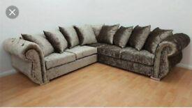 luxury velvet corner couch in gold silver black