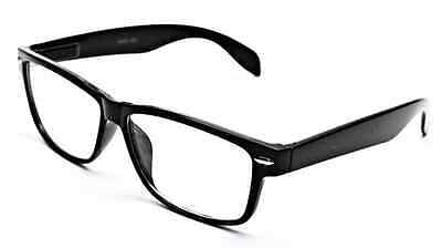 Smart Black Interview Generic nerd Fashion Rectangular Clear Lens Glasses fake