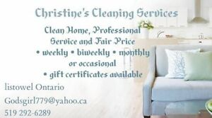 Christine's Cleaning Services  Stratford Kitchener Area image 1