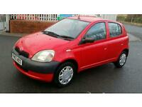 2002 TOYOTA YARIS 1.0 VVTI 5 DOOR 12 MONTH'S MOT 1 LADY OWNER NO OFFERS PRICED TO SELL