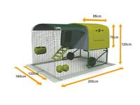 Omlet Eglu Cube Chicken Coop house Hen with extended fox proof run