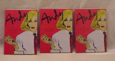 THREE ANDY WARHOL BY CHRISTOPHER MAKOS STILL IN PLASTIC WRAPPER
