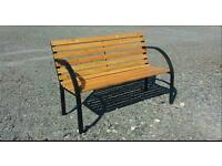 Half price to clear. Steel and wooden garden bench