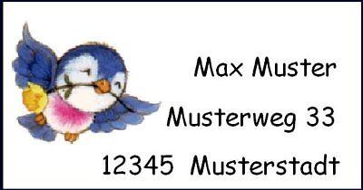 mi07# 40 Adressetiketten *kleiner süsser Vogel*
