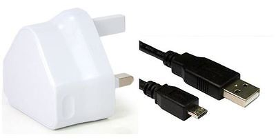 WALL CHARGER & USB LEAD FOR Intel Atom 8 GB HDMI Compute Stick 8 Gb Atom Usb