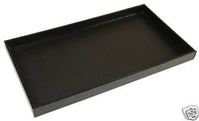 Black Leather Display Tray Organizer Travel Drawer