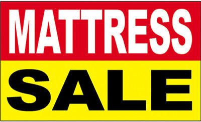 MATTRESS SALE - Vinyl Banner 2x3 ft Sign New - ryb
