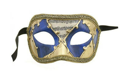 Mask from Venice Colombine Musica Golden Authentic Carnival Venetian 131