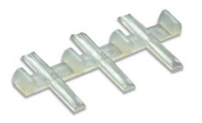 PECO SL-11 'OO' GAUGE NYLON INSULATING FISHPLATES x 12 (TRACK JOINERS)