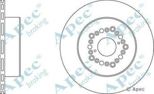 1x OE Quality Replacement Rear Axle Apec Vented Brake Disc 5 Stud 307mm - Pair