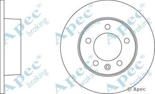1x OE Quality Replacement Rear Axle Apec Solid Brake Disc 5 Stud 305mm - Single