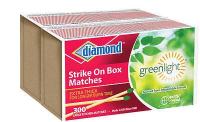 New Diamond Strike On Box Kitchen Matches Greenlight Thick  2Pks Of 300  600 Ct