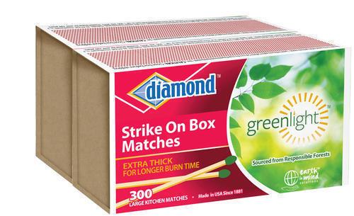New Diamond Strike On Box Kitchen Matches Greenlight Thick  600 Ct