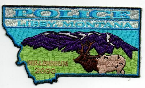 MONTANA MT LIBBY POLICE NICE PATCH SHERIFF STATE SHAPED