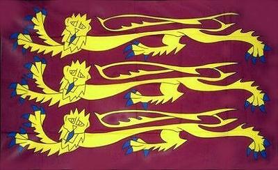 THREE LIONS Richard the Lionheart English Crusader Flag medieval 5x3 5ftx3ft