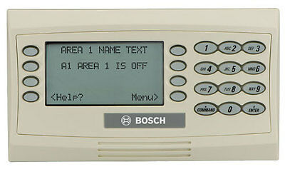 Bosch D1260 Alpha Numeric Security System Atm Keypad Console Display