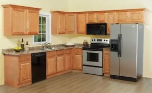 January Sale, Clearance 15% on all in Stock Oak L/VD Cabinets.