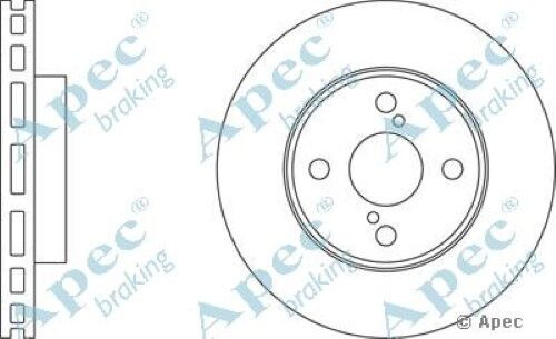 1x OE Quality Replacement Front Axle Apec Vented Brake Disc 4 Stud 255mm Single