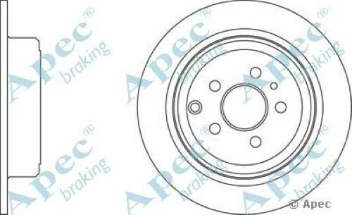 1x OE Quality Replacement Rear Axle Apec Solid Brake Disc 5 Stud 295mm - Single
