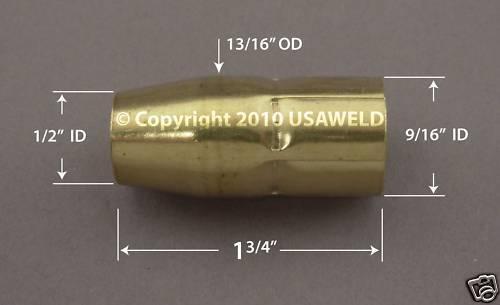5 770 404 Mig Weld Gas Nozzles Nozzle Hobart 770404