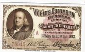 1893 Columbian Exposition Ticket