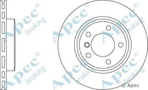 1x OE Quality Replacement Front Axle Apec Vented Brake Disc 5 Stud 300mm Single