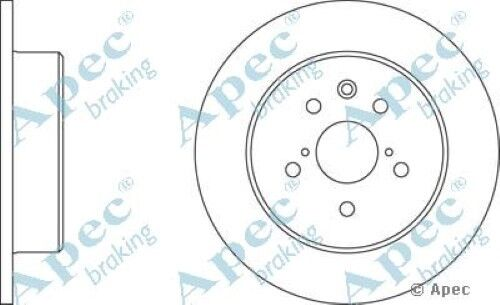 1x OE Quality Replacement Rear Axle Apec Solid Brake Disc 5 Stud 308mm - Single