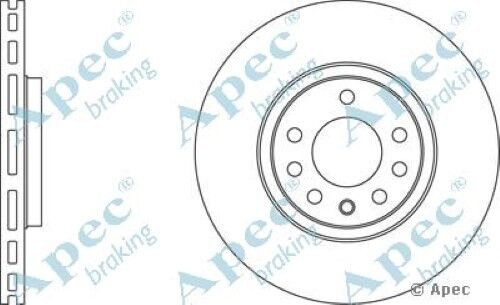 1x OE Quality Replacement Front Axle Apec Vented Brake Disc 5 Stud 308mm Single