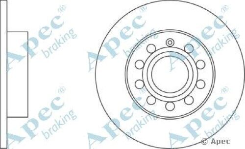 1x OE Quality Replacement Rear Axle Apec Solid Brake Disc 5 Stud 260mm - Single