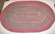Vintage Wool Braided Rug