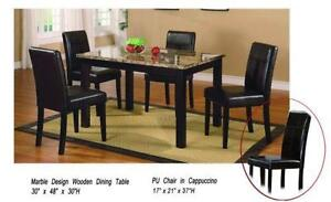 Dining Table Leather Chairs