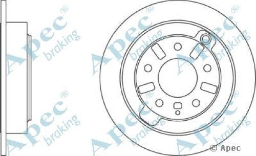 1x OE Quality Replacement Rear Axle Apec Solid Brake Disc 5 Stud 286mm - Single