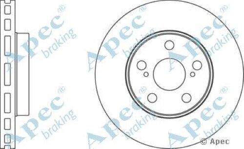 1x OE Quality Replacement Front Axle Apec Vented Brake Disc 5 Stud 255mm Single