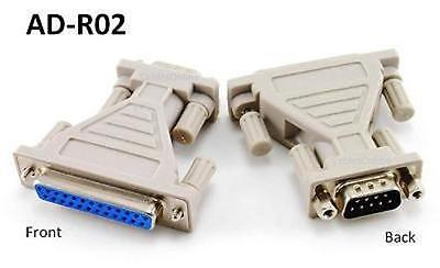 DB9 Male 9-Pin to DB25 Female 25-Pin Serial Adapter - CablesOnline AD-R02 ()