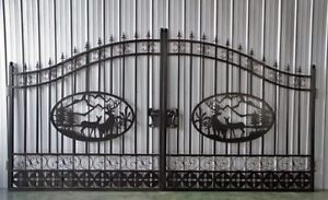 NEW WROUGHT IRON ORNAMENTAL ENTRANCE GATE 20 FT 16FT 14FT