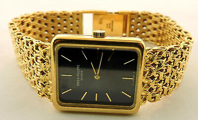 LADIES 18K YELLOW GOLD PATEK  PHILIPPE ELLIPSE GENEVE SWISS WATCH