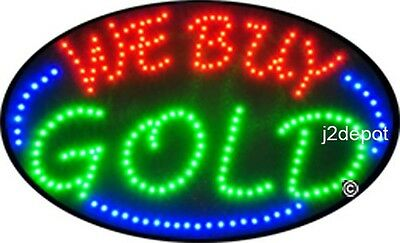 Us Seller Animated We Buy Gold Led Sign Neon Lighted. Video Inside. 21x13-12