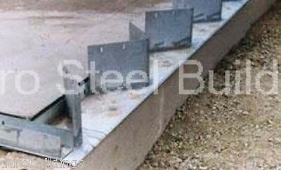 Duro Steel Arch Building 80 Metal Hand Welded Industrial Base Connector Plate