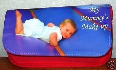 Personalised Make-Up Bag lovely photo gift for Mum,Aunt, Nan. Christmas/Birthday ()