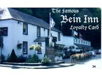 PART-TIME FRONT OF HOUSE PEOPLE WANTED FOR THE FAMOUS BEIN INN, GLENFARG [15 MINUTES FROM PERTH]