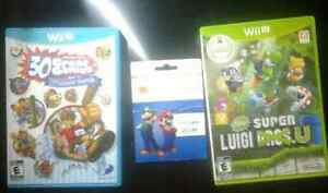 Unused Nintendo WiiU games and gift card Stratford Kitchener Area image 1