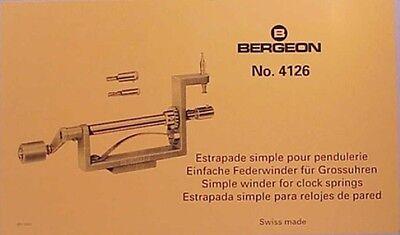Bergeon Clock Mainspring Winder