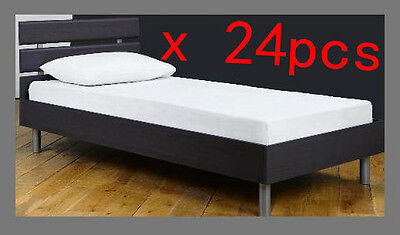Waterproof Single Bed Fitted Mattress Cover Protector Plastic PVC Sheet x 24 pcs