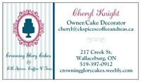 Custom Cakes, Cupcakes & more made from scratch!