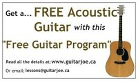 Free guitars to help beginners start to learn to play easier